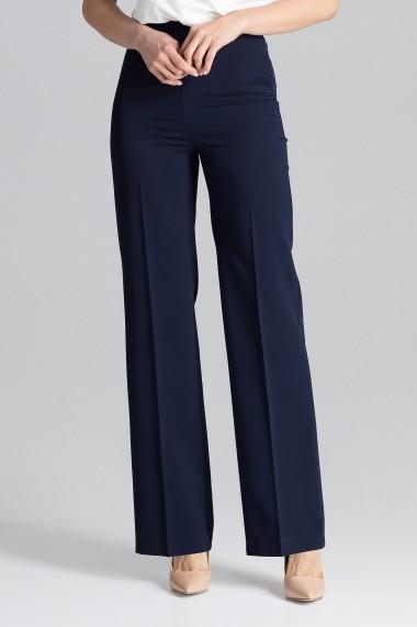 Pantaloni largi Figl M657 Bleumarin