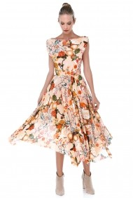 Rochie midi de zi Quincey EB2631 Floral