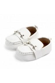 Pantofiori eleganti Superbebeshoes cu catarame MDD2081-2-Alb