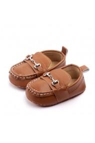 Pantofiori eleganti Superbebeshoes cu catarame MDD2081-3-Maro
