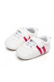 Pantofi sport bebelusi Superbebeshoes cu dungi MDD2044-2-Alb