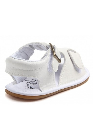 Sandalute Superbebeshoes baietei MDD0824-1-Alb