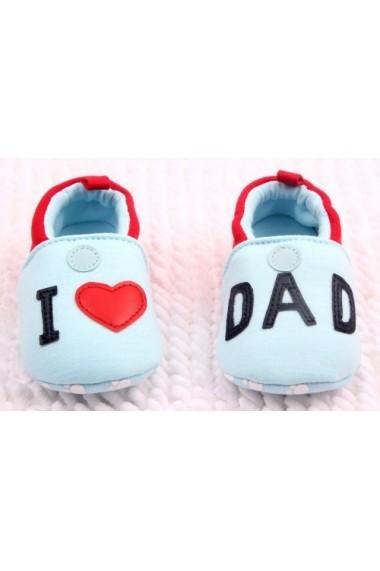 Botosei Superbebeshoes I love dad MDID339-1-Bleu
