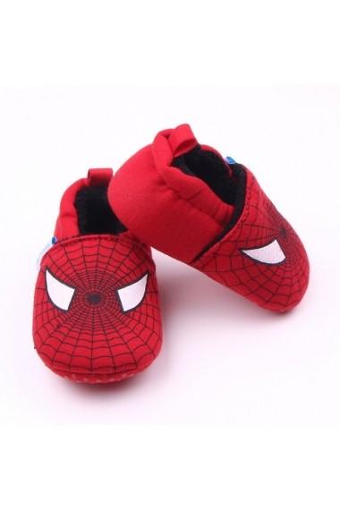 Botosei Superbebeshoes Spiderman MD1825-2-Rosu