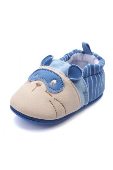 Botosei Superbebeshoesalbastri Pisicuta cu masca MBHXC-4-Albastru