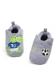 Botosei Superbebeshoes bebelusi Croco fotbalist MDD2060-1-Gri
