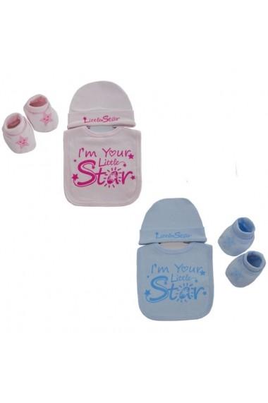 Set pentru bebelusi Superbebeshoes I`m your little star DKWHBB256-Roz