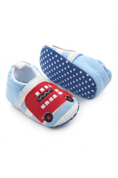 Botosei Superbebeshoes bebelusi Autobuzul londonez LI1787-4-Bleu