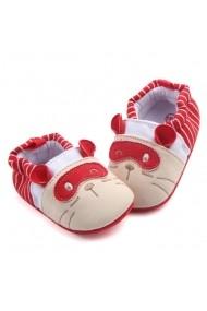 Botosei Superbebeshoes bebelusi Pisicuta cu masca rosie MDHXC-4-1-Rosu
