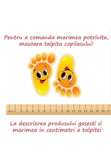 Botosei Superbebeshoes bebelusi Vulpita portocalie MBD0911-4-Portocaliu