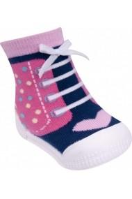 Mocasini fetite YO! cu talpa antiderapanta Happy Shoes OB-100-Multicolor