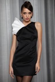 Rochie de seara Buffet Dressing din tafta Duchesse Neagra