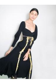 Rochie cocktail Marami Embroidered Dress Neagra