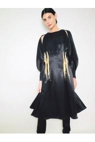 Rochie midi Marami Bishop Sleeves Dress Neagra