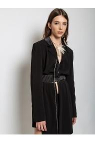 Sacou tip rochie Marami Detachable Dress Blazer Negru