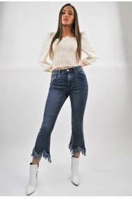 Jeans denim ELES & CO JTB001 talie inalta