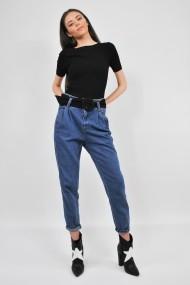 Bluza tricotata cu maneca scurta ELES & CO MCN001 Neagra