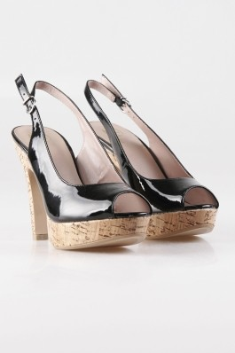 Sandale Bata negre, cu aspect lucios, preturi, ieftine