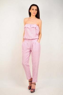 Salopeta RVL Fashion cu imprimeu roz, preturi, ieftine