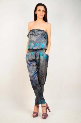 Salopeta RVL Fashion cu imprimeu gri, preturi, ieftine