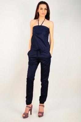 Salopeta RVL Fashion bleumarin cu bust elastic, preturi, ieftine