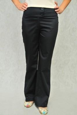 Pantaloni RVL Fashion negri, drepti, cu talia inalta, preturi, ieftine