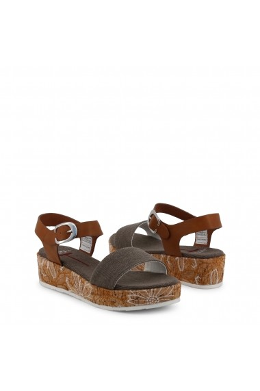 Sandale cu toc U.S. Polo ASSN. JENNA4046S9_CY1_BRW-BRICK