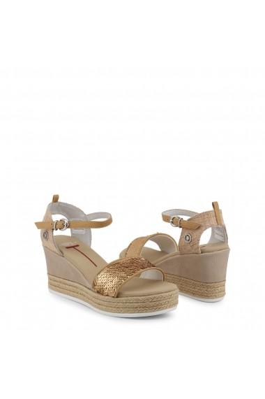 Sandale cu toc U.S. Polo ASSN. DONET4176S9_T1_BRZ-NAT