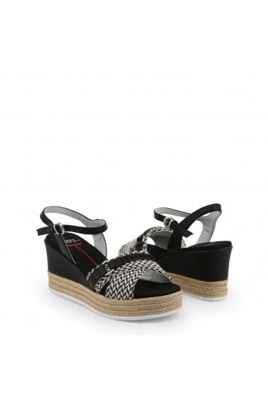 Sandale cu toc U.S. Polo ASSN. DONET4175S9_TY1_BLK