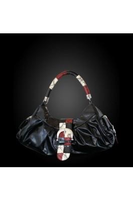 Geanta Dama 99216 - negru/crem/rosu