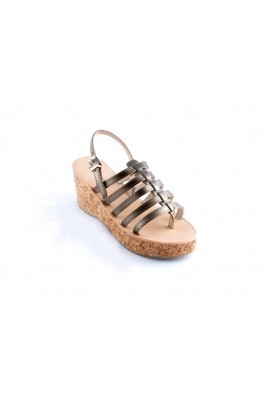 LES TROPEZIENNES Woman Wedge shoe - menthe bronze
