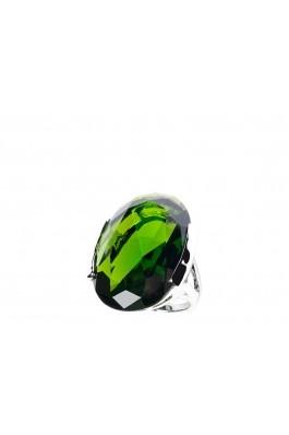 Inel BAGUE A DAMES argintiu cu piatra verde- els, preturi, ieftine