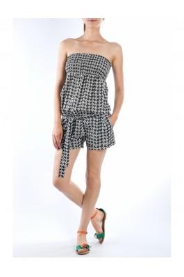 Salopeta TinaR cu pantalon scurt X863 Negru, preturi, ieftine