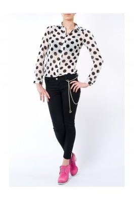 Camasa TinaR cu buline mari, alb-negru, preturi, ieftine