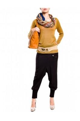 Pantaloni TinaR stofa dungi BY-1004 Maro, preturi, ieftine
