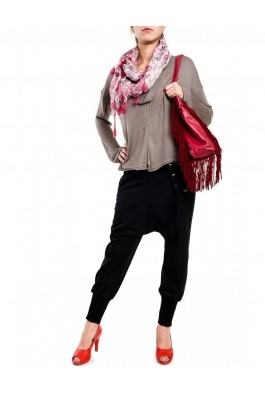 Pantaloni TinaR stofa dungi BY-1004 Negru, preturi, ieftine
