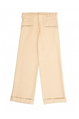Pantaloni TinaR largi stofa K3265A Bej, preturi, ieftine