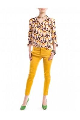 Pantaloni TinaR galbeni cu croiala skinny, preturi, ieftine