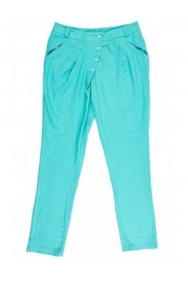 Pantaloni TinaR salvar turcoaz din in si vascoza, preturi, ieftine