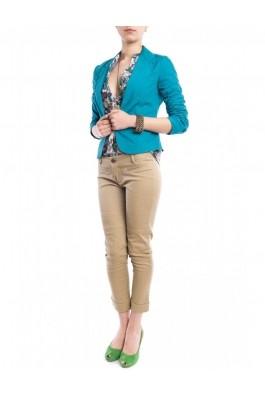 Pantaloni TinaR bej skinny, pana deasupra gleznei, preturi, ieftine