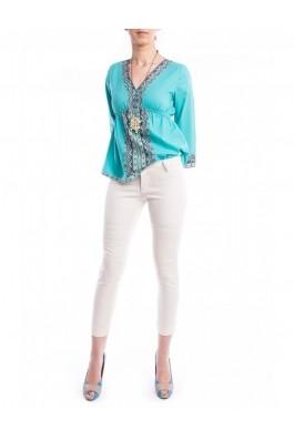 Pantaloni TinaR albi skinny, pana deasupra gleznei, preturi, ieftine