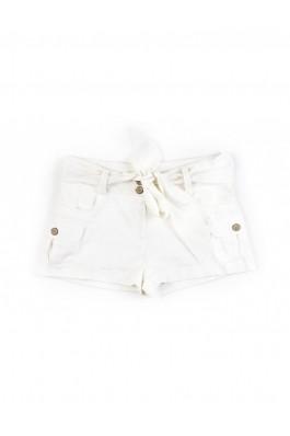 Pantaloni TinaR scurti albi cu cordon, preturi, ieftine