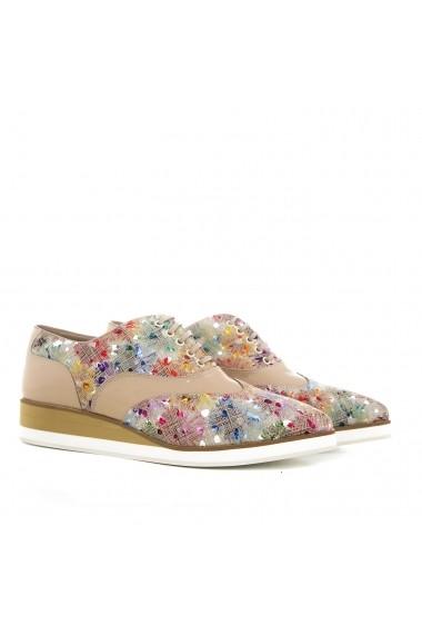 Pantofi pentru femei marca CONDUR by alexandru nude cu print