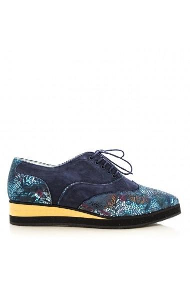 Pantofi pentru femei CONDUR by alexandru din presaj albastru, cu talpa joasa