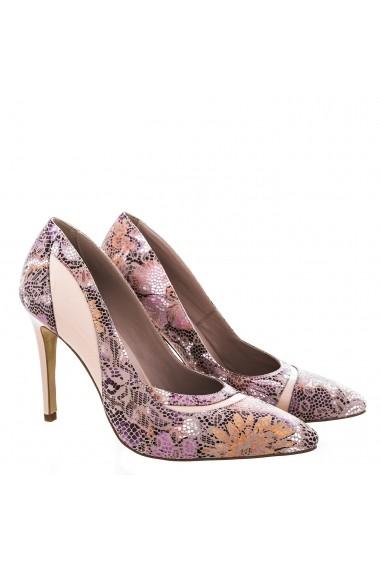 Pantofi pentru femei marca CONDUR by alexandru nude cu toc
