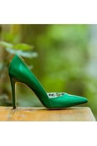 Pantofi cu toc CONDUR by alexandru Aime verde