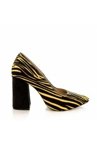 Pantofi cu toc CONDUR by alexandru Victoria Galben