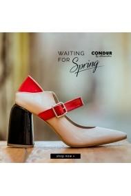 Pantofi cu toc CONDUR by alexandru Feminine nude