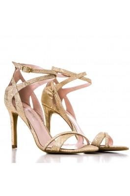 Sandale CONDUR by alexandru cu presaj, aurii din piele naturala