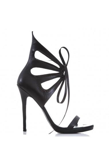Sandale pentru femei CONDUR by alexandru negre cu toc